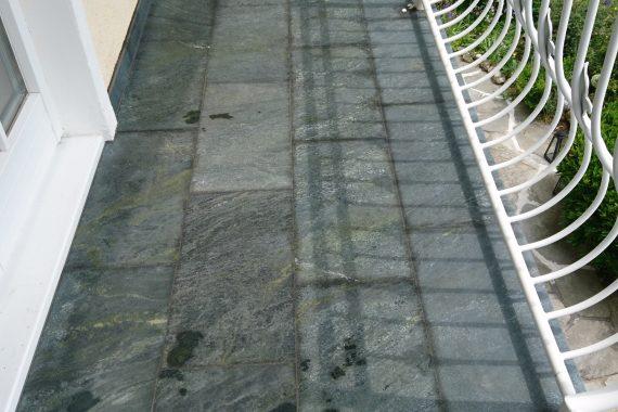 Terrase mit Steine verkleiden